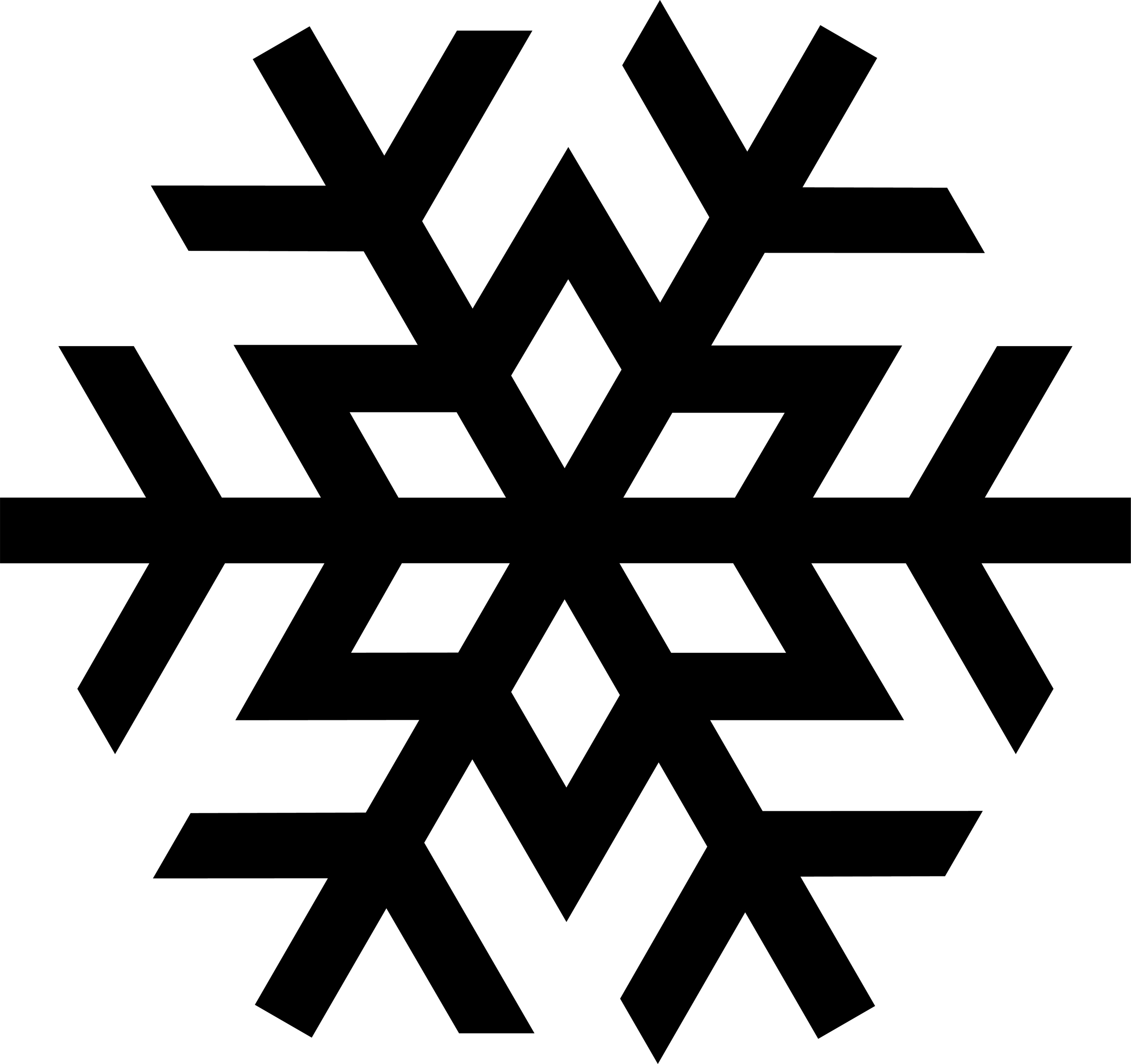 Snowflake clipart Panda White And Black Clipart