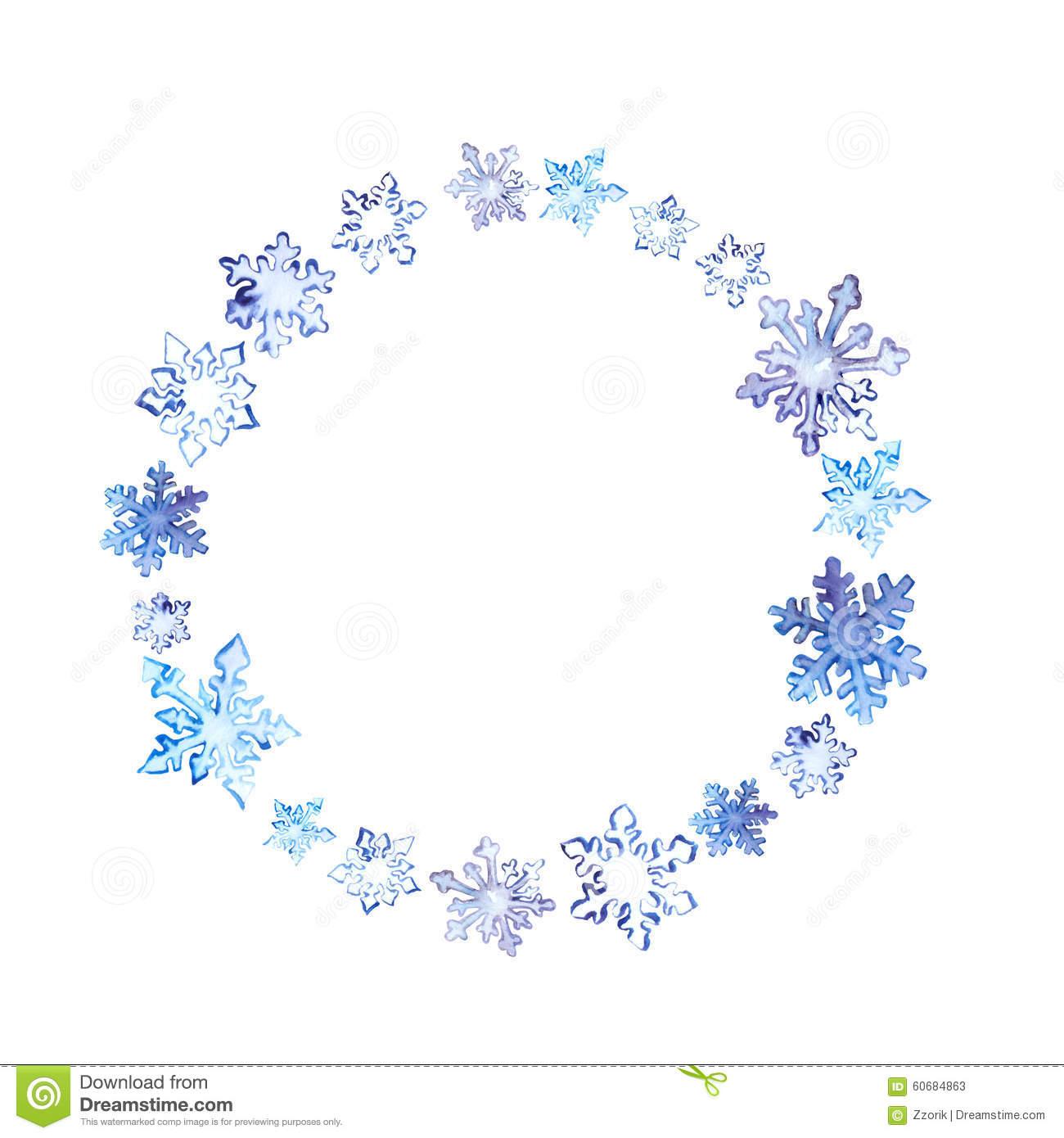 Wreath clipart snowflake Snowflake Snowflake Clipart Clipart Round