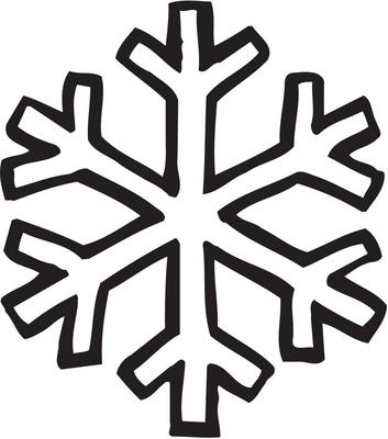 Drawn snowflake small Cool snowflake Random Simple Pinterest