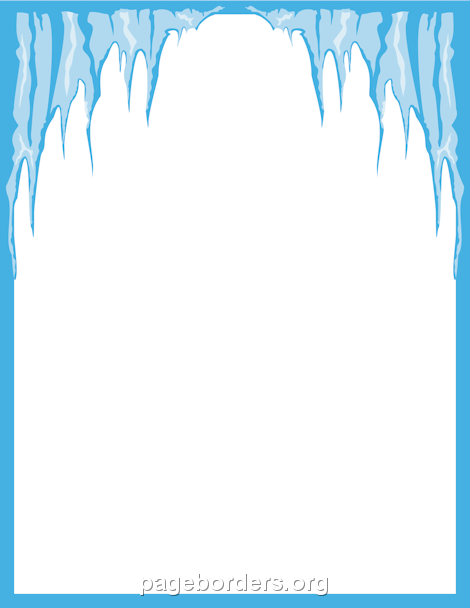 Winter clipart boarder Page and Graphics Icicle Clip