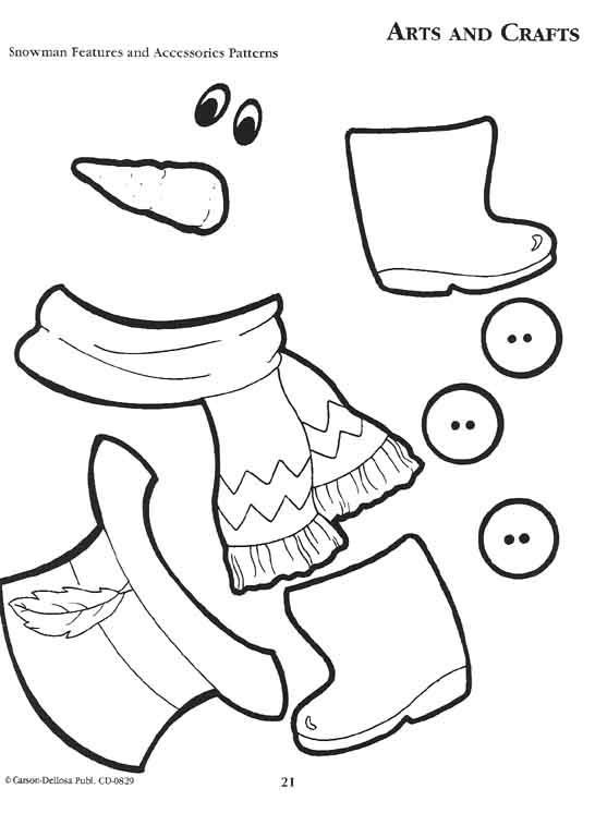 Snowman clipart accessory Kid sheet could Pinterest the