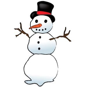 Carrot clipart snowman Snowman Image: Free Free Stick
