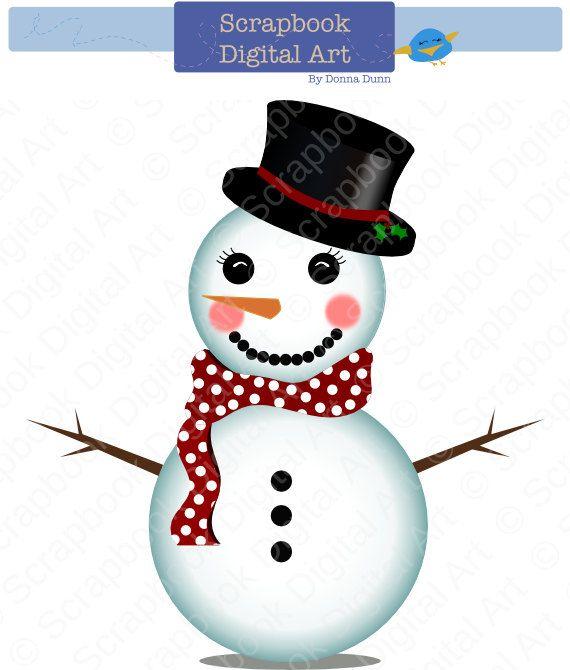 Snowman clipart basic On Art Snowman Snowman Christmas