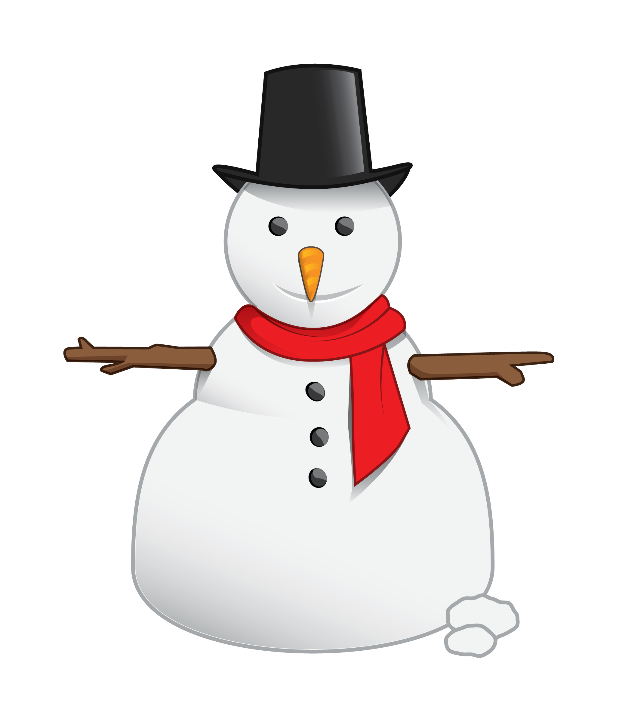 Snowman clipart basic Cliparting clipart free Free clipart
