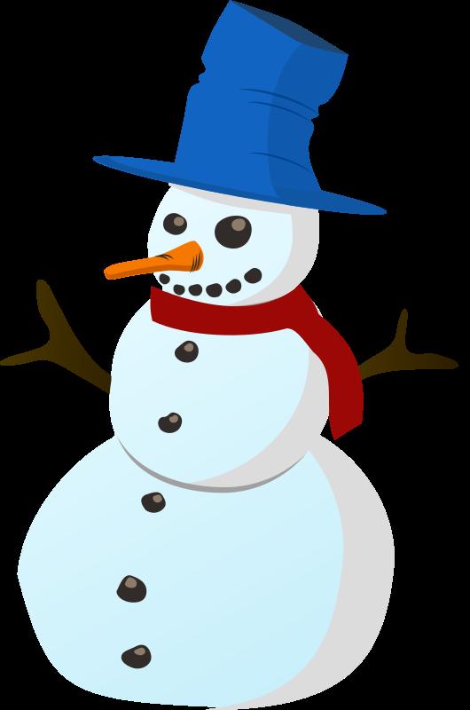 Snowman clipart basic Public Clip to Free Snowman