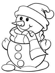 Snowman clipart black and white Image Coloring More 25+ Best
