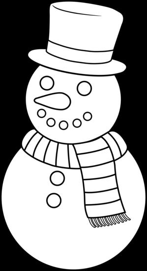 Snowman clipart black and white Snowman Clipart Black White And