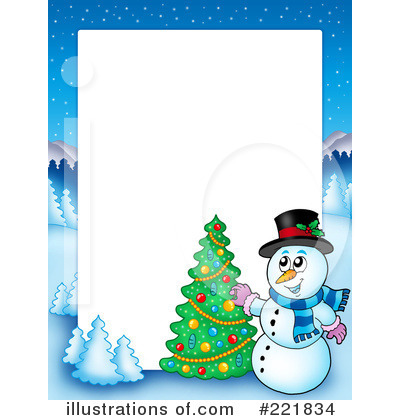 Snowman clipart border Snowman Illustration by (RF) visekart
