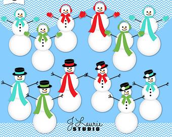 Snowman clipart bowling Etsy clipart Clipart Art Girl