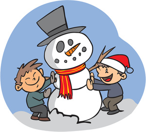 Snowman clipart building a Of Children Image: Illustration Two