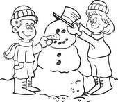 Snowman clipart building a Landscape; Clip Snowman Kids snowman