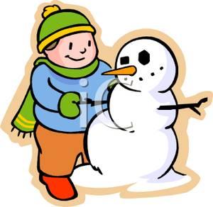 Snowman clipart building a Boy Building Boy Building Clipart