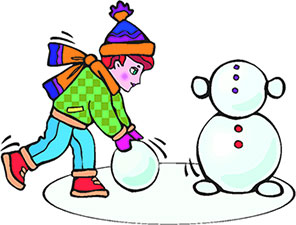 Snowman clipart building a A Snowman Snowman Building Clipart