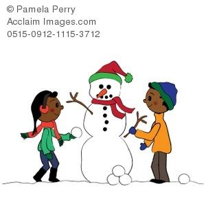 Snowman clipart building a Art Snowman Snowman a Illustration
