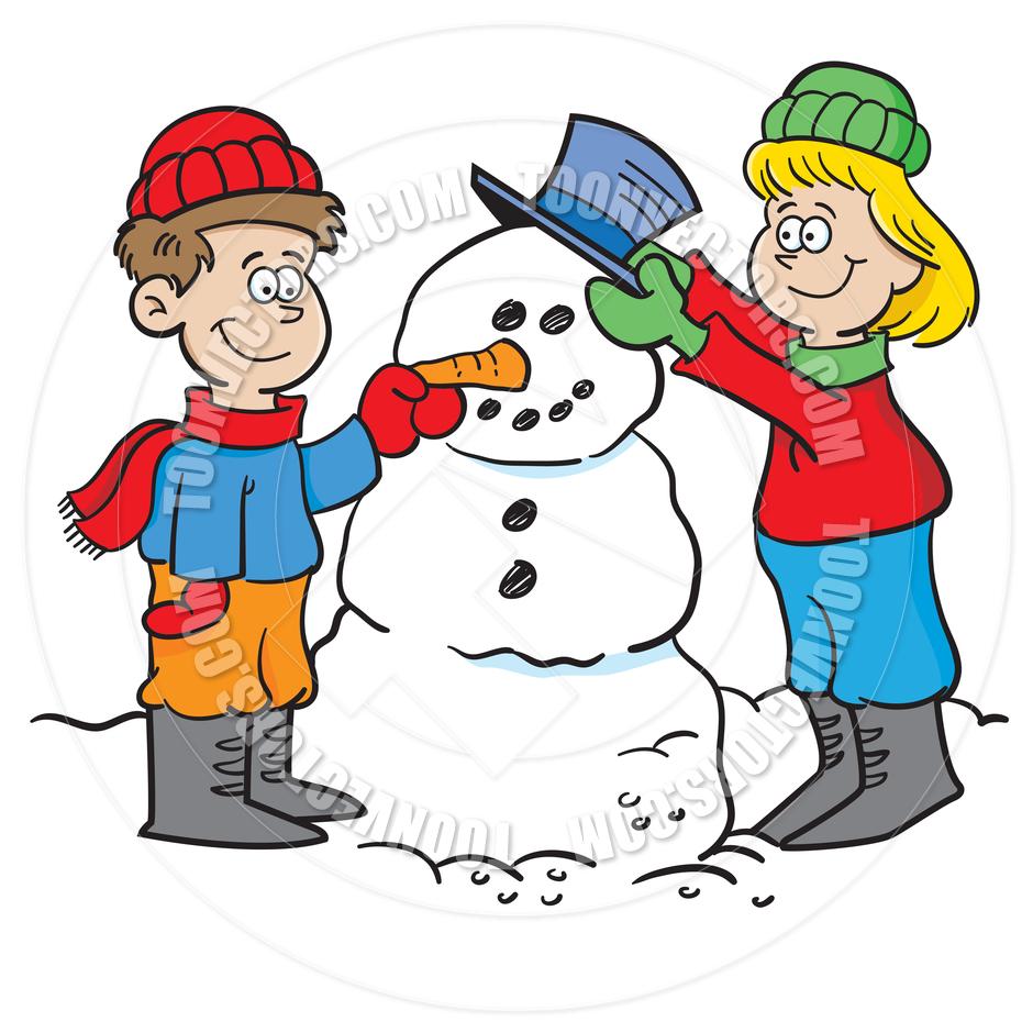 Snowman clipart building a Biulding A  Snowman Clipart