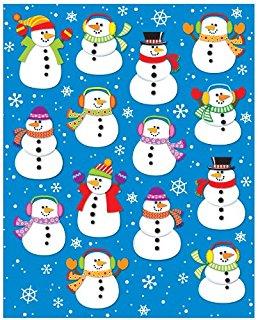 Snowman clipart carson dellosa Carson (168034 Stickers Shape Penguins