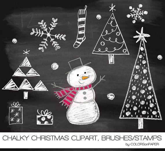Christmas Tree clipart chalkboard Downloaden Direct Photoshop Clipart en
