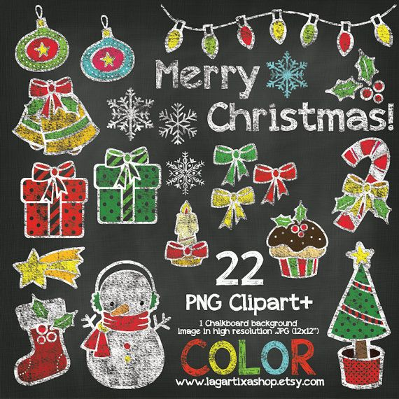 Christmas Tree clipart chalkboard Gifts ChalkBoard Tree Snowman Clipart