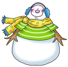Snowman clipart chubby Albums Heart freer Cold Scrapbook