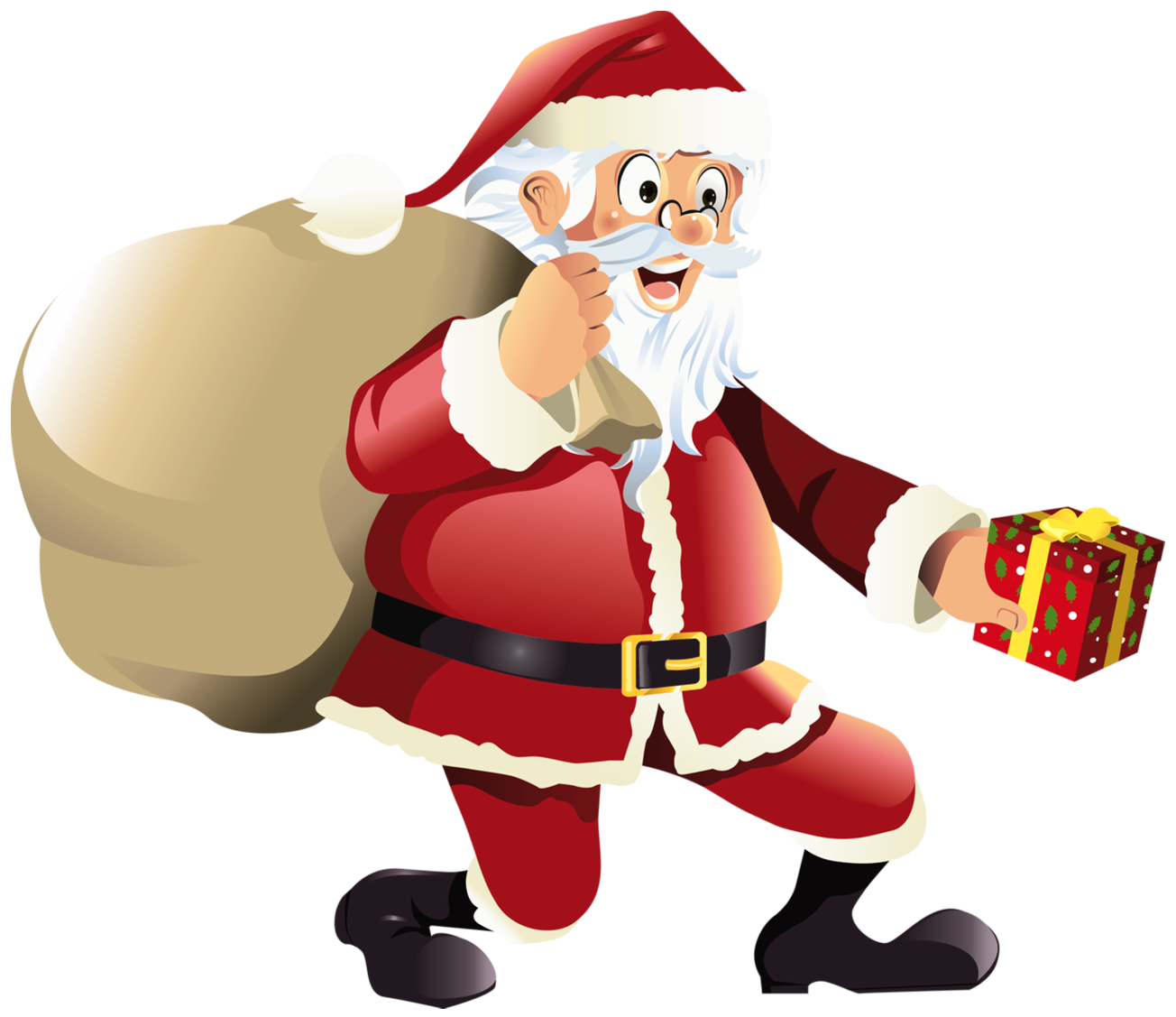 Santa clipart transparent background #1