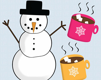 Winter clipart hot cocoa Clipart Winter or Snowman Colorful