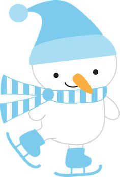 Blue clipart snowman White and  ClipartChristmas Pinguins