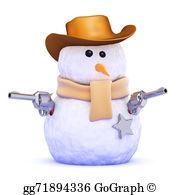 Snowman clipart cowboy Snowman gg70187440 cowboy as GoGraph