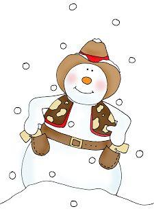 Snowman clipart cowboy Dolls backgrounds 607 Stamps: winter