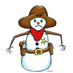 Snowman clipart cowboy Horse with for Cowboy Search