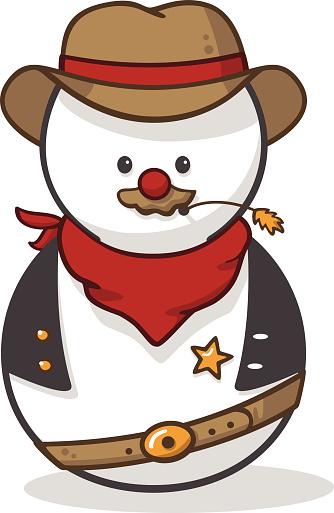 Snowman clipart cowboy A Cliparts · Christmas Cliparts