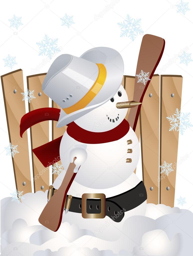 Snowman clipart cowboy Image by a art a