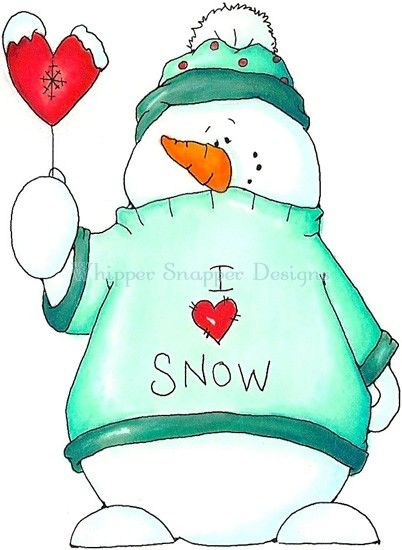 Snowman clipart cute Cute painted clipart given snowman/he