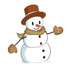 Snowman clipart cute Pdclipart Snowman snowman Cute and