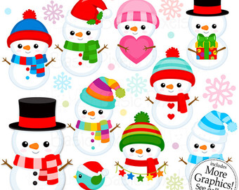 Snowman clipart cute Art Cute Snowman Personal use