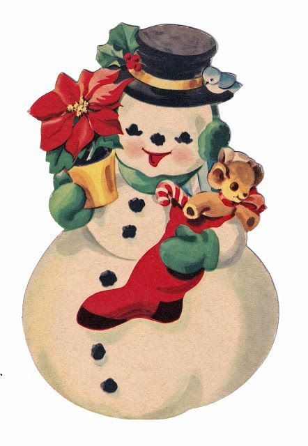 Snowman clipart cute vintage Pin Art Christmas this and