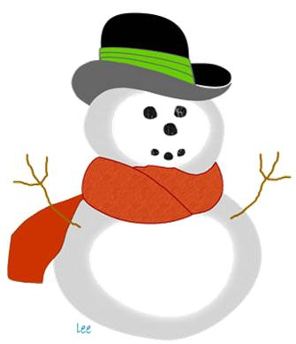Snowman clipart december December Vacation Country Library Programs