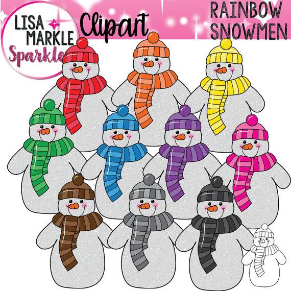 Snowman clipart december Clipart Snowman Rainbow Clipart Clipart