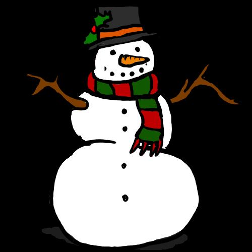 Snowman clipart december 7 December Christmas clipart 11