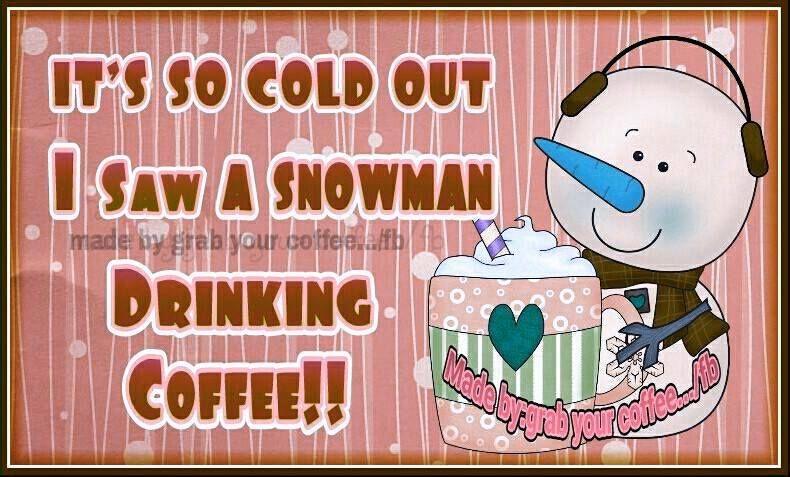 Snowman clipart drinking coffee  Coffee Pictures Saw I