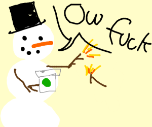 Snowman clipart drinking coffee Breaks and Mew's Form drinking
