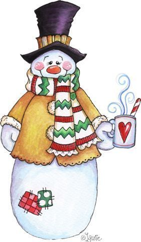 Snowman clipart drinking coffee 797 ClipartChristmas COFFEE Pinterest coffee