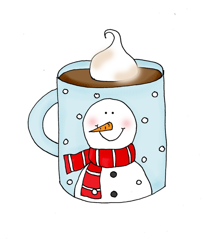Snowman clipart drinking coffee Images on best Pinterest Cocoa