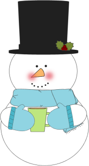 Snowman clipart drinking coffee Snowman Hot Drinking Cocoa Cocoa