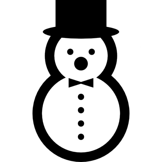 Snowman clipart elegant A Icon Free and and