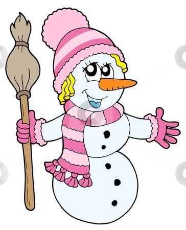 Woman clipart snowman Girl Clipart Black Clipart White