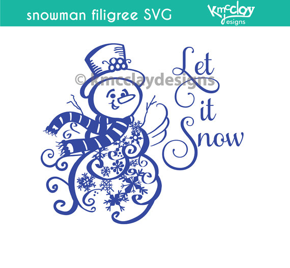 Snowman clipart filigree SVG Cutting by KmcclayGraphics Cutting