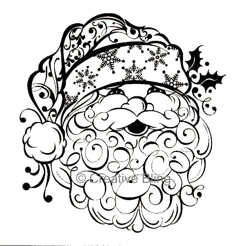 Snowman clipart filigree Art on and Christmas Santas