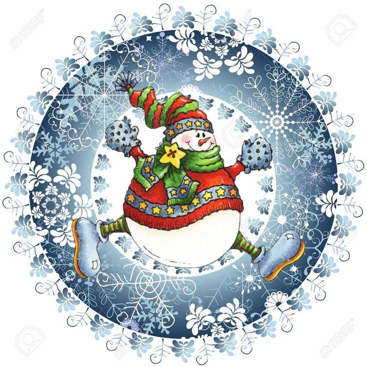 Snowman clipart filigree Winter Pinterest шары на тарелочки