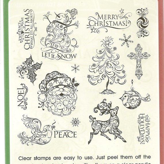 Snowman clipart filigree Stamp FILIGREE Santa HOLIDAY