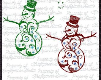 Snowman clipart filigree Svg Use Filigree Christmas SVG